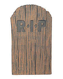 2 ft weathered tombstone decorations