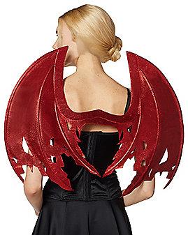 Red Glitter Devil Wings