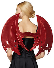 Red Glitter Devil Wings