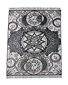 7 Ft Tarot Celestial Tablecloth - Decorations