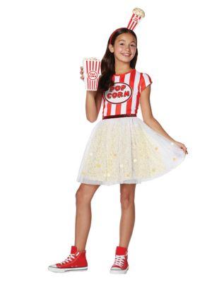 Kids 1950s Clothing & Costumes: Girls, Boys, Toddlers Kids Popcorn Dress Costume by Spirit Halloween $34.99 AT vintagedancer.com