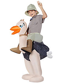 Kids Inflatable Ostrich Piggyback Costume