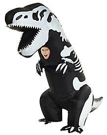 Kids Inflatable T-Rex Skeleton Costume