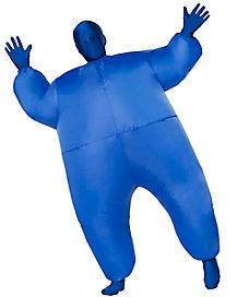 Kids Blue Light Up Inflatable Super Skin Suit Costume