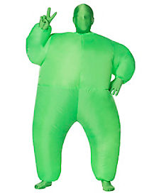 Kids Green Light Up Inflatable Super Skin Suit Costume
