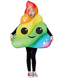 Kids Rainbow Poop Emoji Costume
