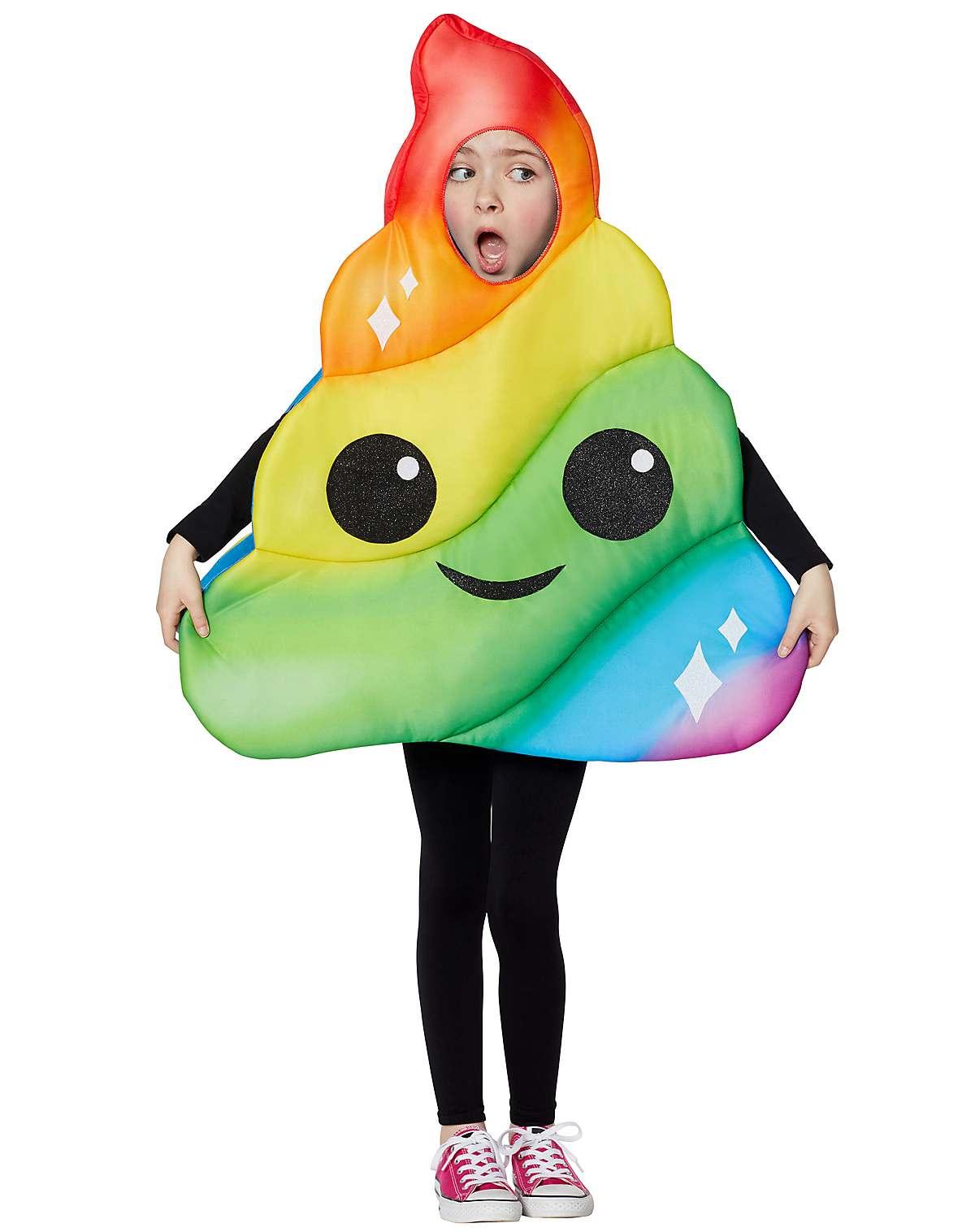 kids rainbow poop emoji costume