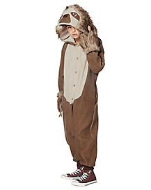 Kids Faux Fur Sloth Union Suit