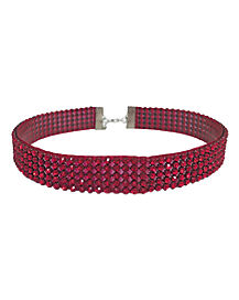 Devil Rhinestone Choker Necklace