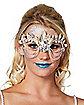 Mermaid Shell Diamond Eye Half Mask