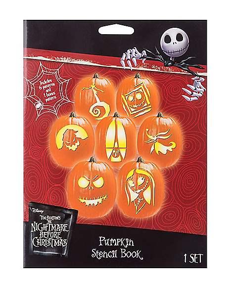Pumpkin Stencil Book The Nightmare Before Christmas Spirithalloween Com