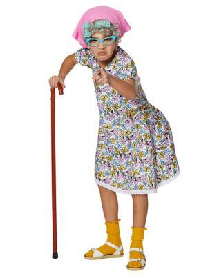 60s 70s Kids Costumes & Clothing Girls & Boys Kids Grandma Costume by Spirit Halloween $34.99 AT vintagedancer.com