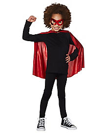 Kids Red Cape and Mask