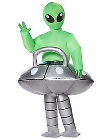 Kids Light Up Alien UFO Inflatable Costume