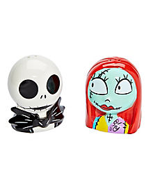 Jack and Sally Salt and Pepper Shakers - The Nightmare Before Christmas