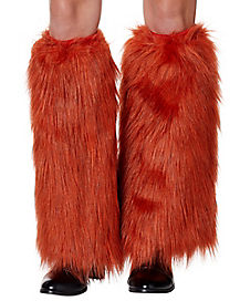 Orange Fox Faux Fur Legwarmers