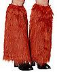 Orange Faux Fur Legwarmers