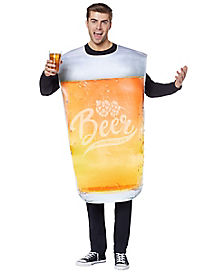 Adult Pint Glass Beer Costume  sc 1 st  Spirit Halloween : funny male halloween costume  - Germanpascual.Com