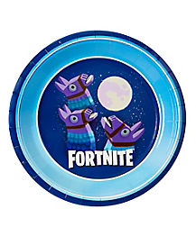 Battle Bus Llama Party Plates 8 Pack - Fortnite