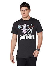 Adult Bunny Brawler and Rabbit Raider T Shirt - Fortnite