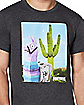 Adult Cactus Loot Llama T Shirt - Fortnite