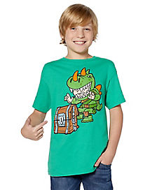 Kids Chibi Rex T Shirt - Fortnite