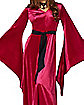 Burgundy Velvet Hooded Robe