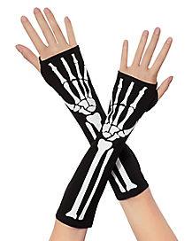 Black Skeleton Arm Warmers