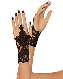 Midi Lace Loop Gloves