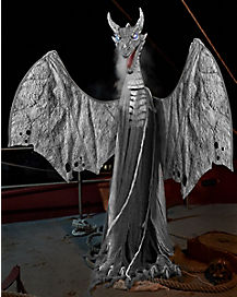 6.4 Ft Arctic Dragon Animatronic - Decorations