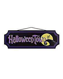 Halloween Town Sign Decorations - The Nightmare Before Christmas