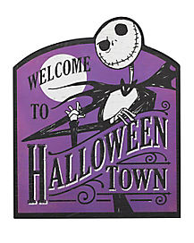 Welcome to Halloween Town Sign - The Nightmare Before Christmas