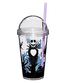 Jack Skellington Cup with Straw - Nightmare Before Christmas