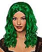 Green Wavy Curls Wig
