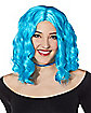 Blue Short Wavy Wig
