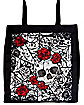 Skull and Roses Tote Bag