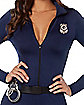 Adult Police Officer Cat Suit Costume