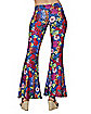 Adult Flower Bell Bottom Pants