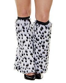 Faux Fur Dalmatian Legwarmers