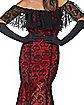 Adult La Catrina Day of the Dead Trumpet Dress Costume