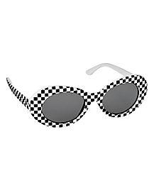 Checkered Mod Sunglasses