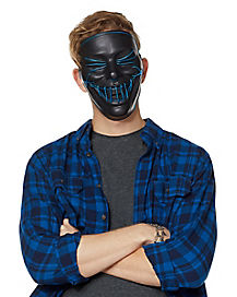 Black and Blue EL Wire Mask