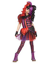 Kids Twisted Jester Costume