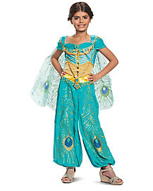 Kids Jasmine Prestige Costume - Aladdin Live Action