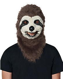 Faux Fur Sloth Moving Mouth Mask