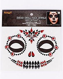 Sugar Skull Jewel Face Decal