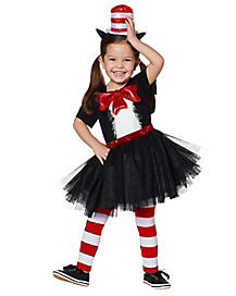Toddler Cat In The Hat Dress Costume - Dr. Seuss