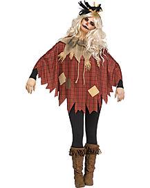 Plaid Scarecrow Poncho