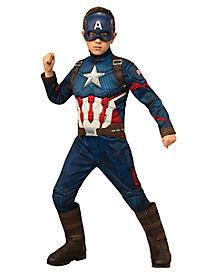 Kids Captain America Deluxe Costume - Avengers: Endgame