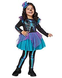 Toddler Oil Slick Skeleton Costume